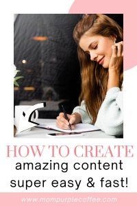 creating content fast and easy